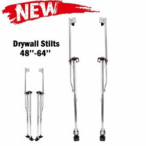 48 64 Adjustable Drywall Stilts Painters Walking Taping Finishing Tools Sliver