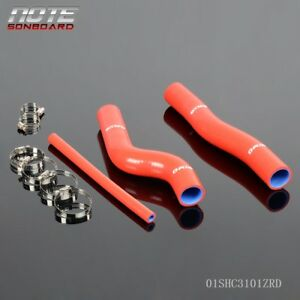 Fit For Hyundai Genesis Rohens Coupe 2 0 Red Silicone Radiator Coolant Hose