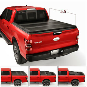 Jdmspeed Hard Tri fold Tonneau Cover For 2007 2018 Toyota Tundra 5 5ft Short Bed