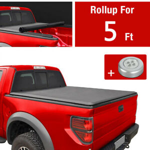 Jdmspeed Soft Roll Up Tonneau Cover For 2016 19 Toyota Tacoma 5ft 60 Inch Bed