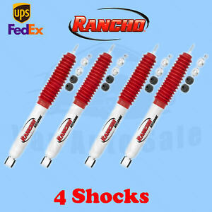 Rancho Rs5000 Front rear 0 Lift Shocks For Mitsubishi Montero 2wd 91 08 Kit 4