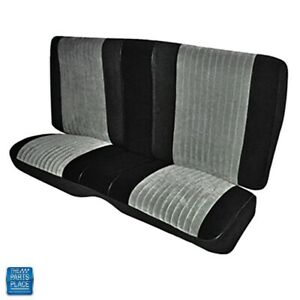 1985 1987 Grand National Rear Bench Seat Cover Pallex Cloth Black Gray Ea