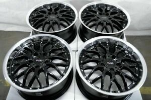 17 Wheels Mercedes Glc300 Ml320 Ml350 S350 S430 Mini Cooper Black Rims 5x112 4