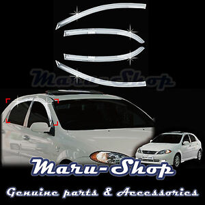 Chrome Door Window Vent Visor Deflector For 04 09 Chevrolet Lacetti optra 5 5dr