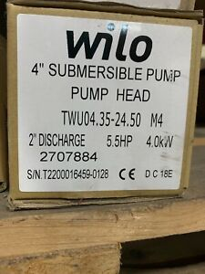 Wilo Submersible Pump End 4 5hp 35gpm 2707884