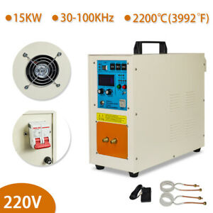 15kw High Frequency Induction Heater Furnace 110v 24kg 53 Lbs 30 100 Khz 220v