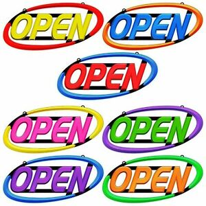 Led Spectrum Typhoon Open Sign For Business 17 X 32 Neon Fast Shipping