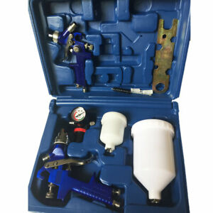 2pcs Hvlp Auto Paint Air Spray Gun Kit Detail Car Primer Clearcoat Us