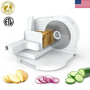 6 7 Blade 150w Commercial Meat Slicer Electric Deli Food Fruit Cutter Kitchen