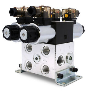 Electronic Hydraulic Double Acting Directional Control Valve 2 Spool 15 Gpm