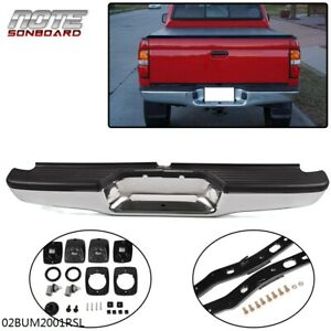 New Chrome Complete Rear Bumper Assembly For 1995 2004 Toyota Tacoma Pickup