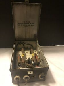 Vintage 1957 W u Tel Co Substation Protector Box Fuse Box Steam Punk