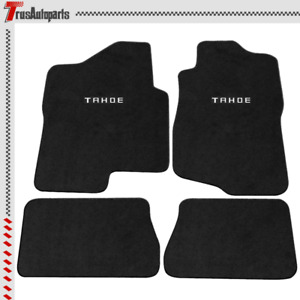 For 07 13 Chevy Tahoe 4dr Black Floor Mats Front Rear Carpets Nylon 4pc