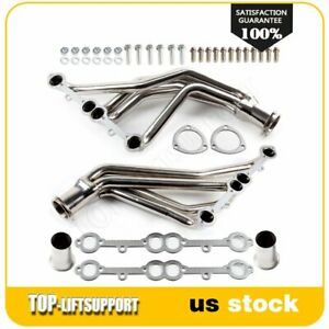 Stainless Racing Manifold Long Tube Header Exhaust For 84 85 91 Gmc Chevry Sbc