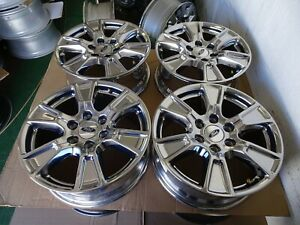 2017 Ford F150 F 150 Oem Factory 18 Wheels Rims Pvd Chrome 2016 2015 2018 6x135