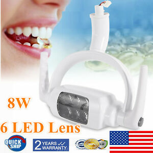 8w Led Dental Operating Exam Lamp Oral Light Induction Unit Chair Tool 12v 6000k