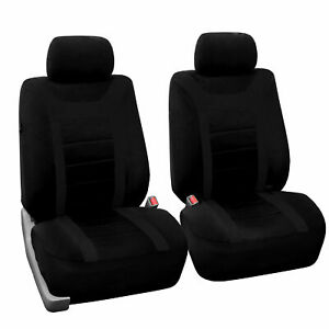 Front Bucket Car Seat Covers For Auto Car Suv Van Black Universal Fitment