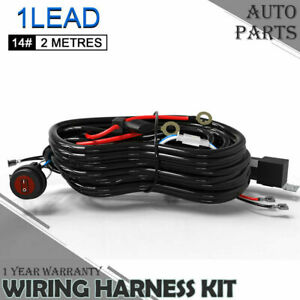 Wiring Harness Kit With 5 Pin On Off Rocker Switch Us Fits 3w 500w Light Bars