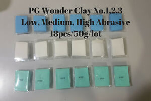 18pcs Of 1 8oz Professional Auto Detailing Clay Bar Combo Low med high Abrasive