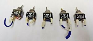 Miyama toggle Switch 2 Position Maintained ms 050 051 6a 250v Ac lot Of 5