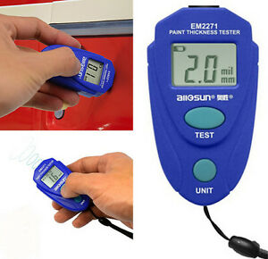 Car Lcd Thickness Gauge Painting Thickness Tester Paint Thickness Meter Tool