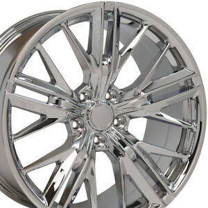 20x9 5 20x8 5 Rims Fit Chevy Camaro Zl1 Style Chrome Wheels Set