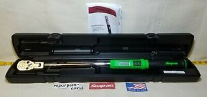 Snap on Atech3f250gb 1 2 Drive Techangle Flexhead Torque Wrench 12 5 250 Ft lb