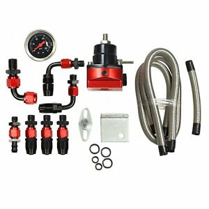 Universal An6 Adjustable Fuel Pressure Regulator Kit W Oil 100psi Guage Kit