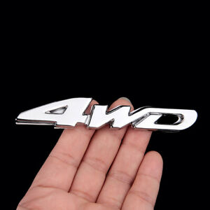 Universal 3d Silver 4wd Chrome Emblem Badge Car Stickers Decal Car Accessories