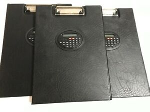 Lot Of 3 Heavy Duty Clipboard With Calculator