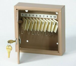 Vintage Key Lock Box Storage Metal Wall Mount Holder Security Safe Cabinet W Key