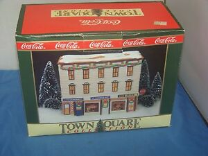 Coca Cola Town Square Collection Dick's Corner Luncheonette Christmas Building
