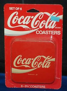 Coca-Cola Coasters Factory Sealed Package 1970s  Set of 6 Coasters