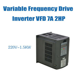 Vsd Vfd 1 5kw 220v Hq Cnc Product 2hp 7a Variable Frequency Drive Inverter