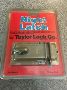 Vintage New F800cg Taylor Brass Pin Tumbler Dead Bolt Door Night Latch Lock