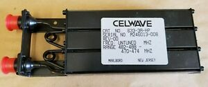Celwave Uhf Preselector Band Pass Filter Repeater 470 480 N P n 633 3a hp
