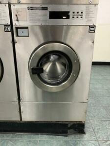 Maytag Front Load Washer 25lb Coin Op Mfr25pdavs Stainless Steel 3phase used