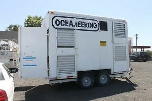 Oceaneering Compressor Generator Trailer Pioneer Dryer 239 Hours Air Breathing