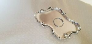 Antique Victorian Sterling Silver Ink Well Tray No Mono