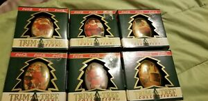 Coca Cola Ornaments Chistmas Trim A Tree Collection 1990 Lot of 6