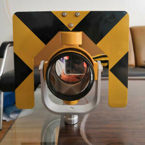 New Yellow Colour Single Prism Set For Total Stations