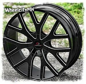 22 Inch Gloss Black Milled Cavallo Clv15 Wheels Dodge Charger Challenger 5x115