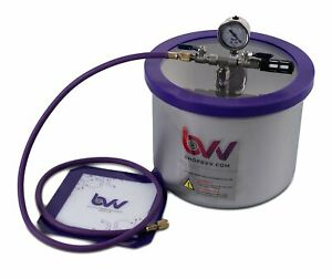Bvv 3 Gallon Wide Stainless Steel Vacuum Degassing Chamber