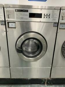 Maytag Front Load Washer 25lb Coin Op Stainless Steel S n 21000621eg used