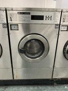 Maytag Front Load Washer 25lb Coin Op Stainless Steel S n 21000690el used