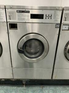 Maytag Front Load Washer 25lb Coin Op Stainless Steel S n 21000691el used