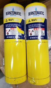 14 1 Oz Bernzomatic Pre filled Map pro Gas Torch Style Cylinder pack Of 2