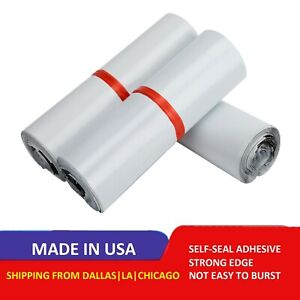 Poly Mailers Plastic Envelopes Extra Tough Shipping Bags 2 5 Mil White Premium
