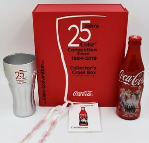 *Only 100 made! 2019 25th Coca Cola Convention Germany Glass & Bottle box set