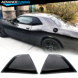 Fits 08 20 Dodge Challenger Xe Gloss Black Window Scoops Louver Vent Pp